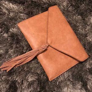 Handbags - Simple Dainty Boho Western Tassel Clutch